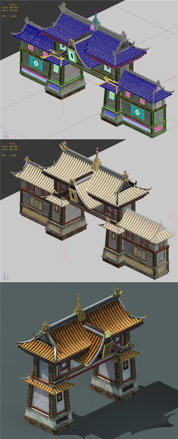 Capital city planning - city gate - 3DOcean Item for Sale