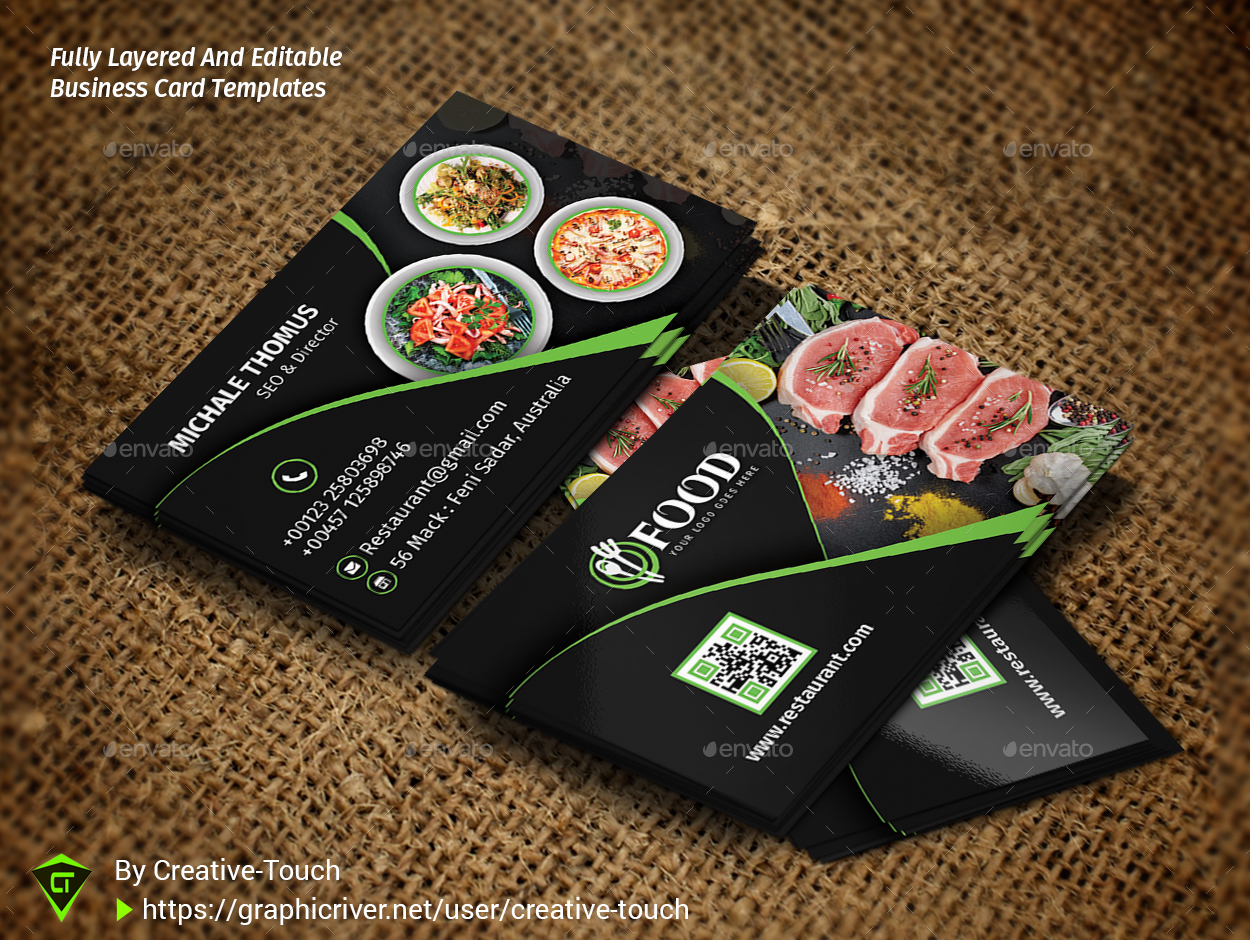 Restaurant Business Card by Creative-Touch | GraphicRiver