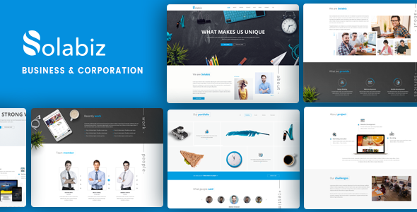 Solabiz - Business & Corporate Responsive WordPress Theme (Consult, Agency, Firm)