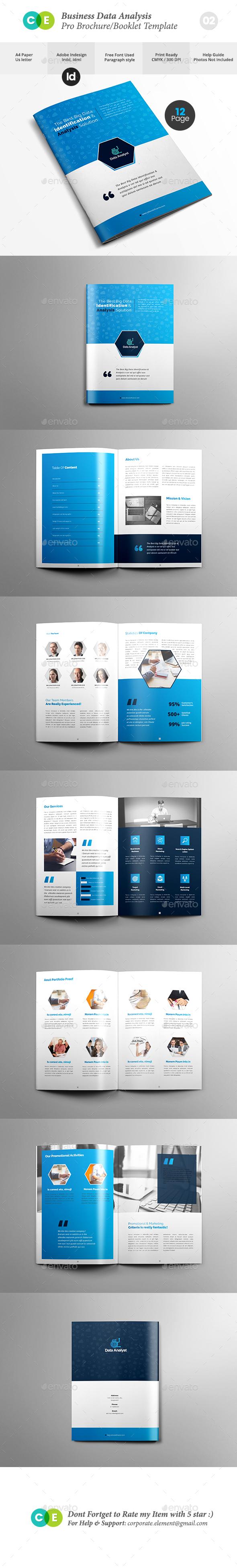 Pro Business Data Analysis Brochure V02 - Brochures Print Templates
