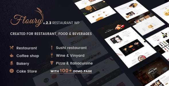 Restaurant WordPress Theme | Floury Restaurant