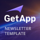 GetApp - App Email Campaign Newsletter Template - ThemeForest Item for Sale