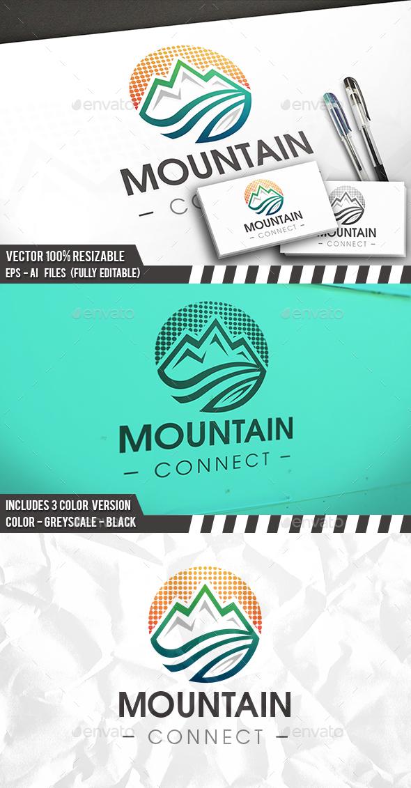 Digital Mountain Logo - 3d Abstract