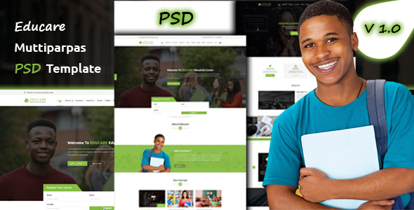Download Educare Education PSD Template nulled version