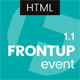 FrontUp - Conference & Event HTML5 Landing Page Template Nulled