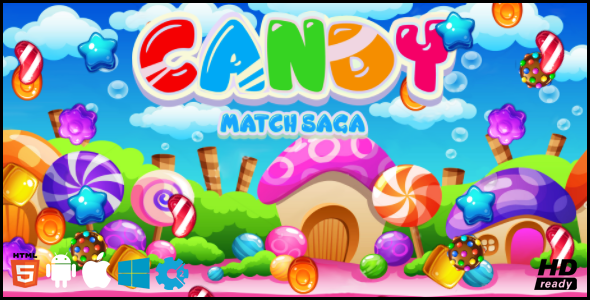 Candy Match Saga HTML5 GAME - CodeCanyon Item for Sale