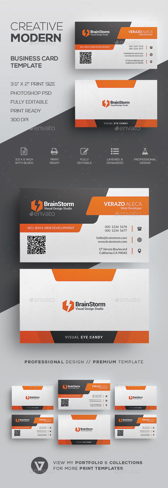 Modern Business Card Template by verazo | GraphicRiver