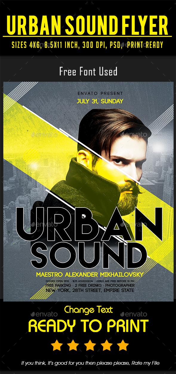 Urban Sound Flyer - Events Flyers