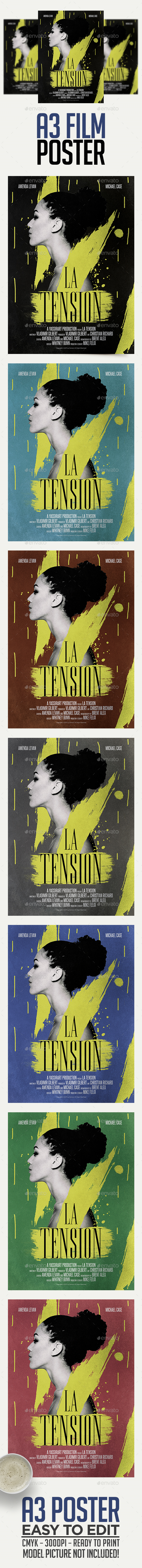 A3 Film Poster Template - Miscellaneous Events