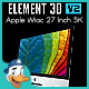 Apple iMac 27 Inch 5K for Element 3D - 3DOcean Item for Sale