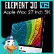 Apple iMac 27 Inch 5K for Element 3D - 3DOcean Item for Sale