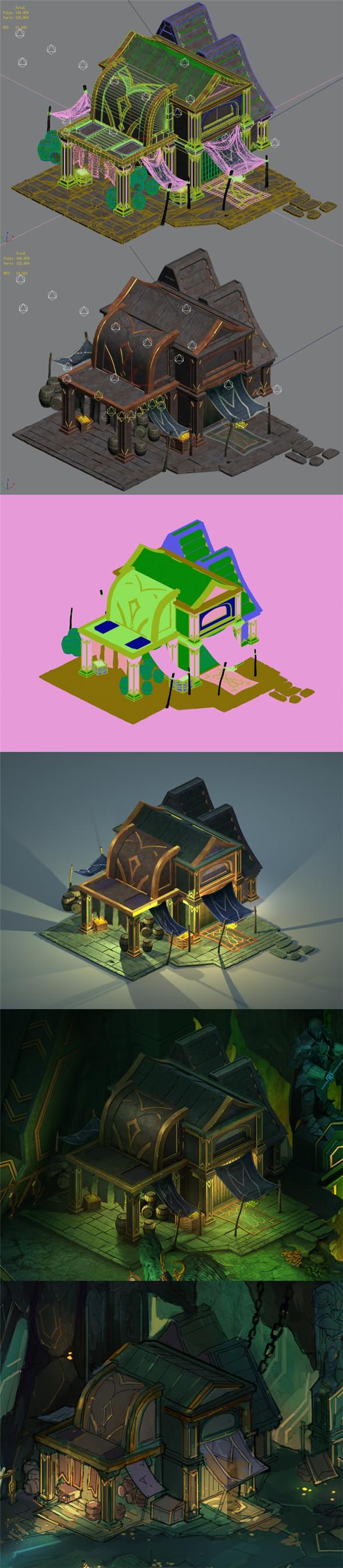 Dragon Lair - House 02 - 3DOcean Item for Sale