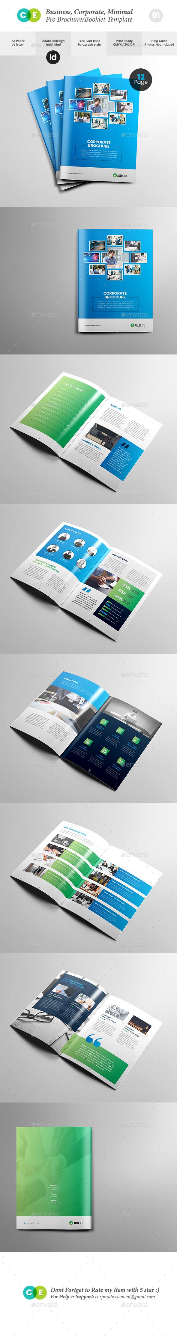 Business Clean Corporate Pro Brochure V01 - Brochures Print Templates