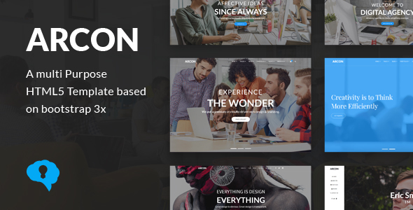 Arcon – Creative Multi-Purpose HTML Template
