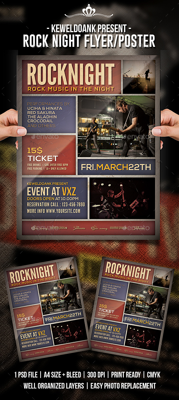 Rock Night Flyer / Poster - Events Flyers