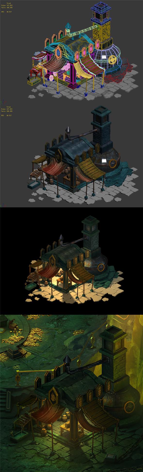 Dragon Lair - Blacksmith Shop 01 - 3DOcean Item for Sale