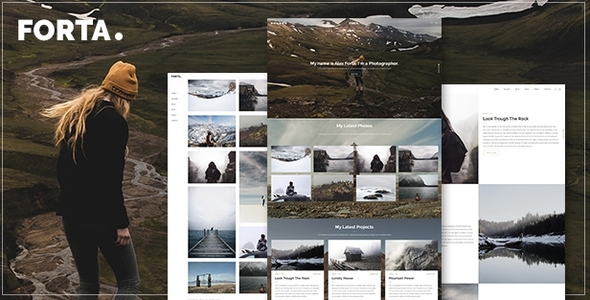 Forta | Photography WordPress Theme