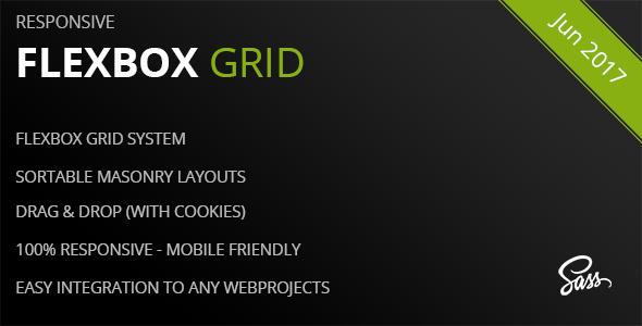Flexbox Grid – A Responsive Masonry Grid System