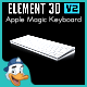 Apple Magic Keyboard for Element 3D - 3DOcean Item for Sale