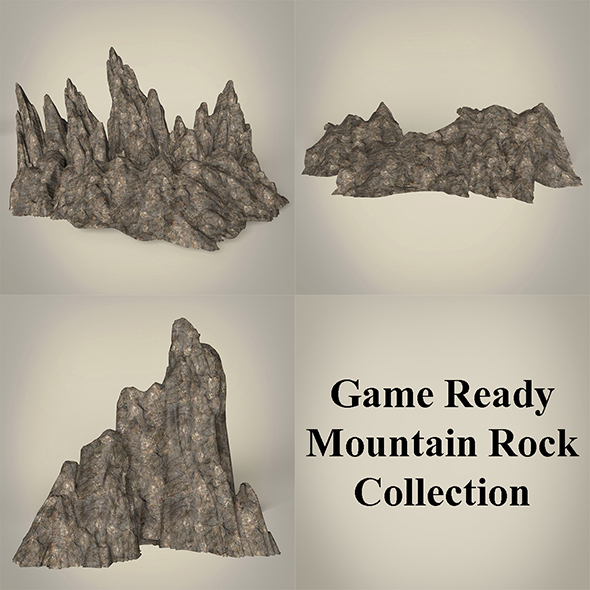 Game Ready Mountain Rocks Collection - 3DOcean Item for Sale