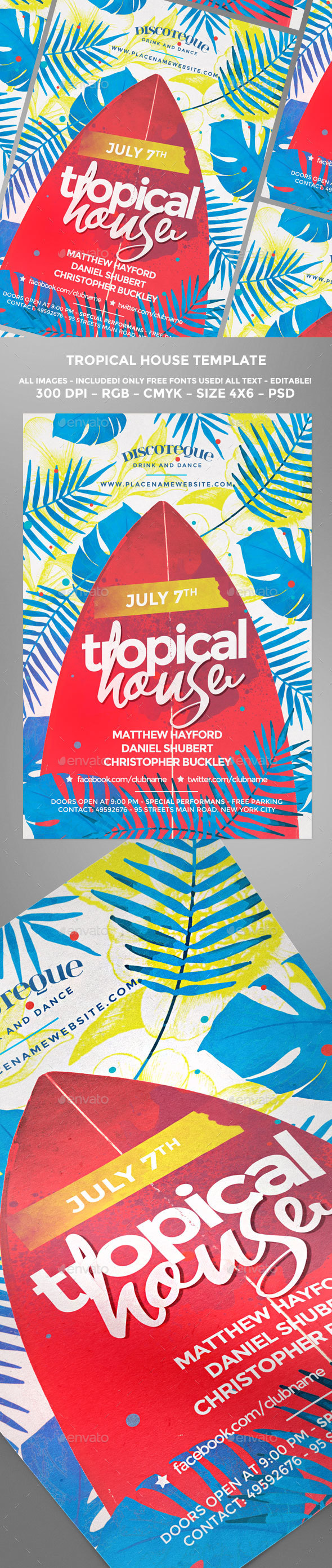 Summer Tropical House - Clubs & Parties Events