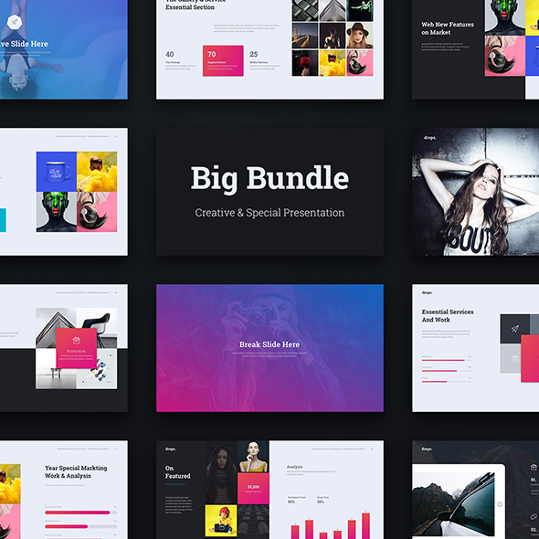 Big Special Bundle 3 in 1 (Keynote) - Creative Keynote Templates