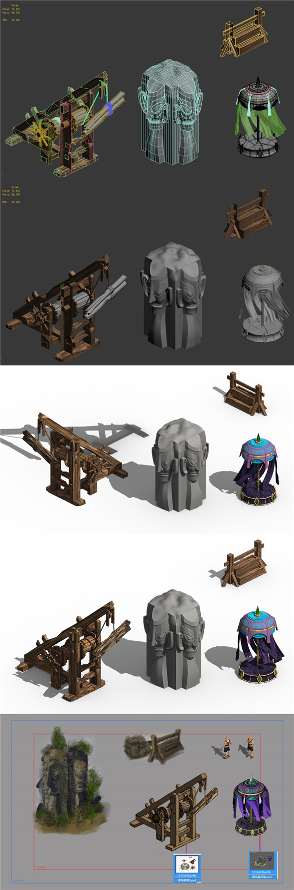 Barracks - accessories - 3DOcean Item for Sale