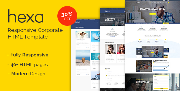 Hexa - Responsive Multipurpose Corporate/Creative HTML Template