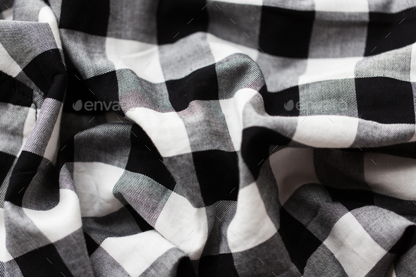 close up of checkered fabric or clothing item - Stock Photo - Images
