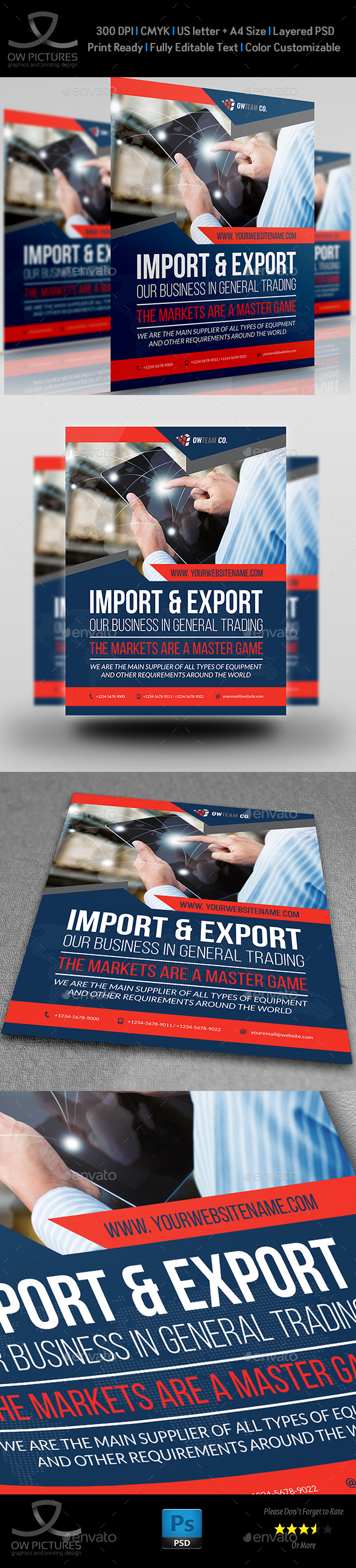 Trading Company Flyer Template - Corporate Flyers