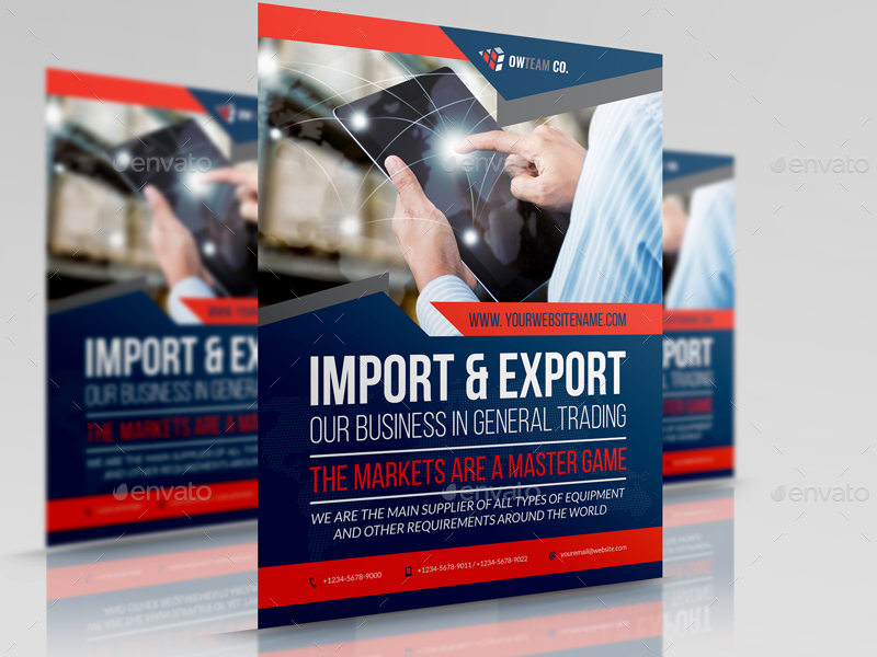 Trading company flyer template by owpictures graphicriver for Trading group