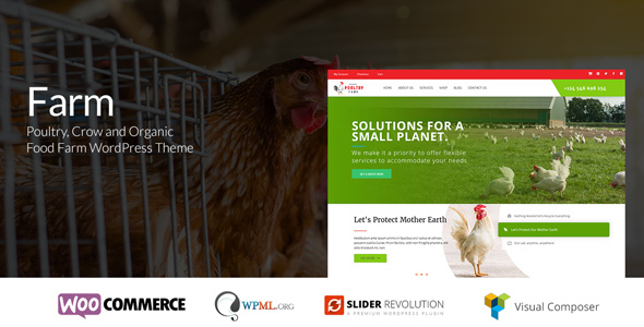 Farm - Poultry & Crow Farm WordPress Theme - Food Retail