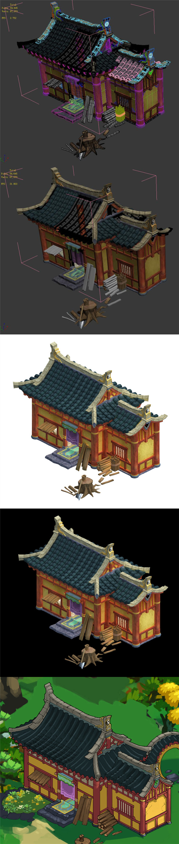 Kunlun Village - Chalet - 3DOcean Item for Sale