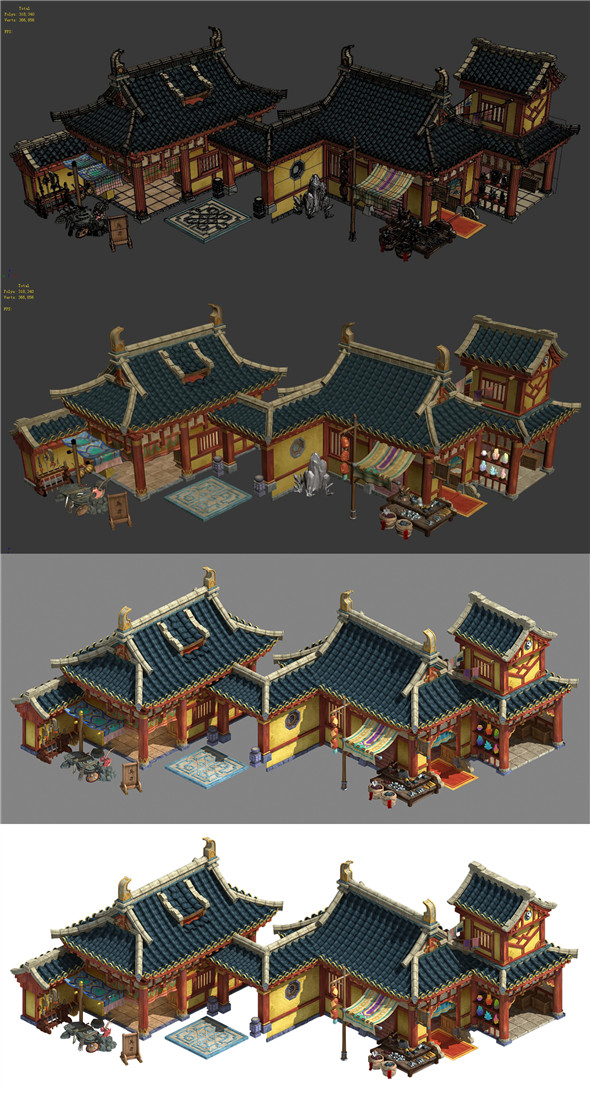 Kunlun Mountain Village - Weapon Shop - Forging Shop - 3DOcean Item for Sale
