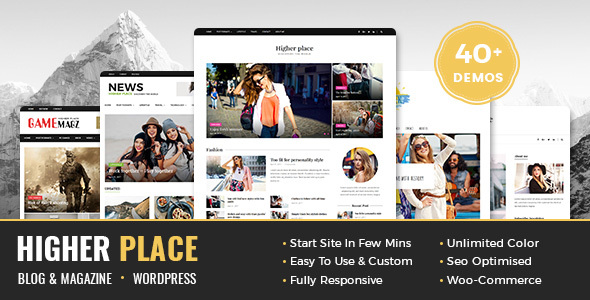 Higher Place – Multi-Purpose Blog & Magazine WordPress Theme