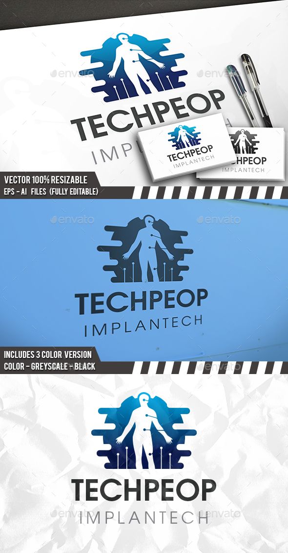 Human Technology Logo - Humans Logo Templates