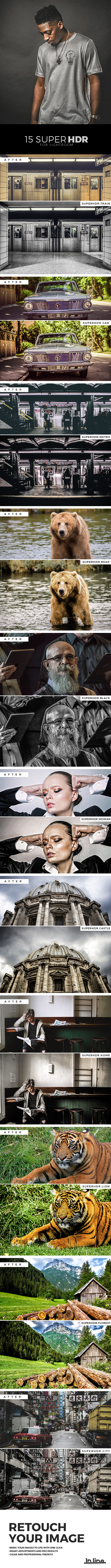 Super HDR Professional Presets - Adobe Lightroom - HDR Lightroom Presets
