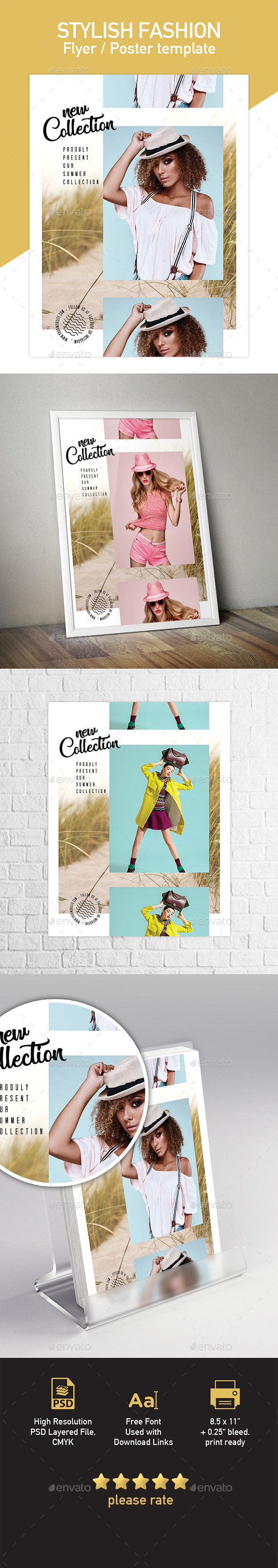 Stylish Fashion Poster Flyer Template - Commerce Flyers
