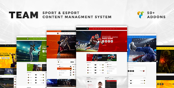 Team - Soccer, Football, Hockey, Basketball, eSport & Gaming and News WordPress Theme