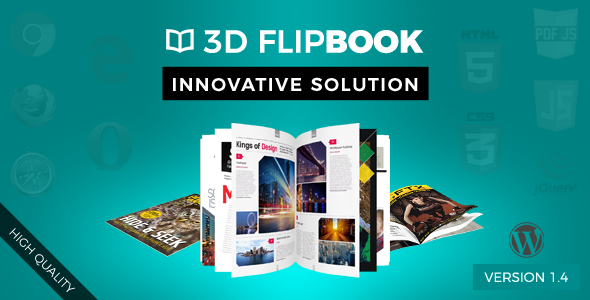Interactive 3D FlipBook Powered Physics Engine WordPress Plugin - CodeCanyon Item for Sale