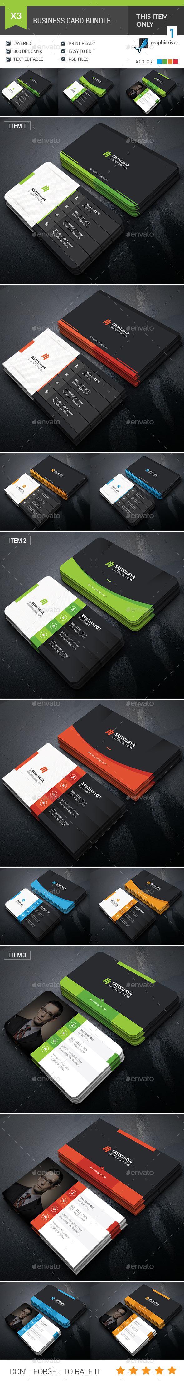 Dark Business Card Bundle - Corporate Business Cards