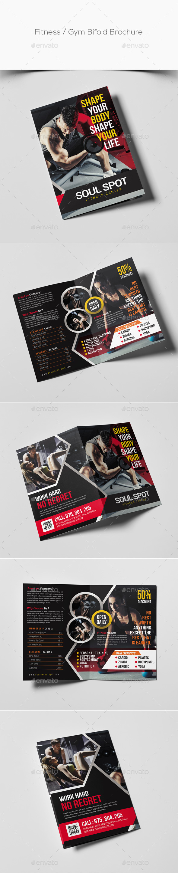 Fitness / Gym Bifold Brochure - Corporate Brochures