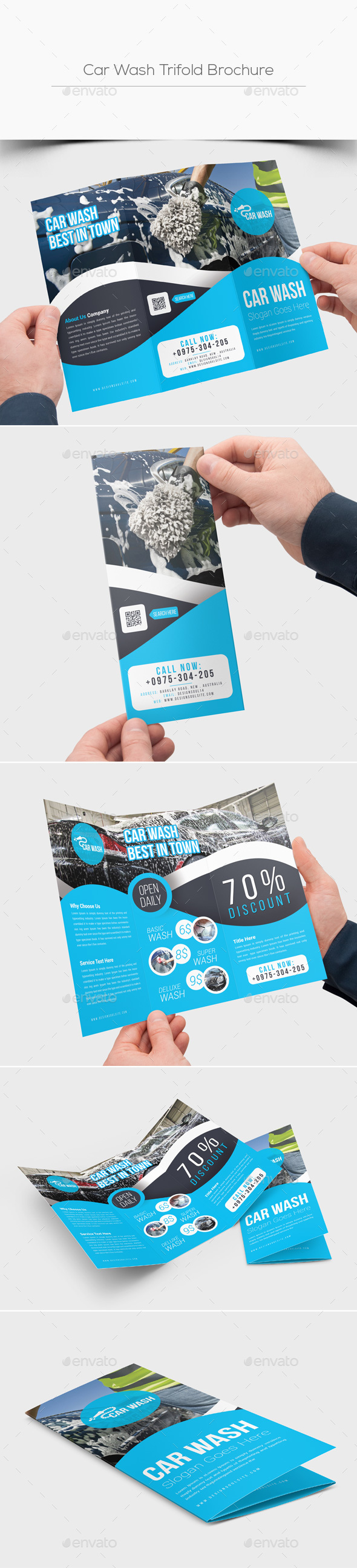 Car Wash Trifold Brochure - Corporate Brochures