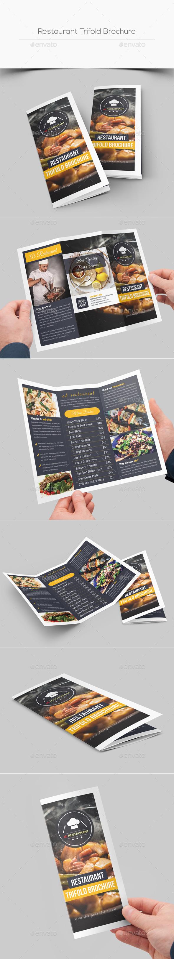 Restaurant Trifold Brochure - Corporate Brochures
