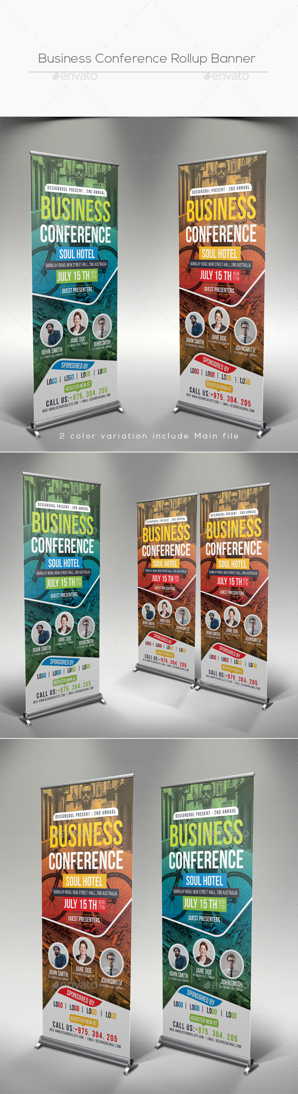 Business Conference Rollup Banner - Signage Print Templates