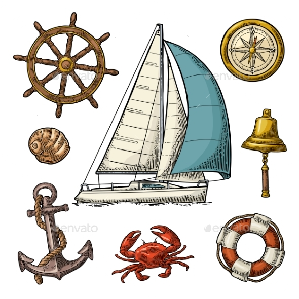 Sea Icons Set - Miscellaneous Vectors
