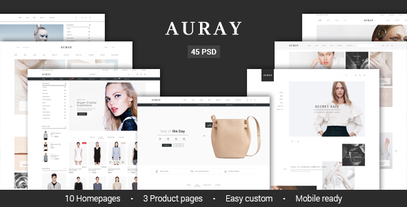 Auray - eCommerce PSD Template - Retail PSD Templates