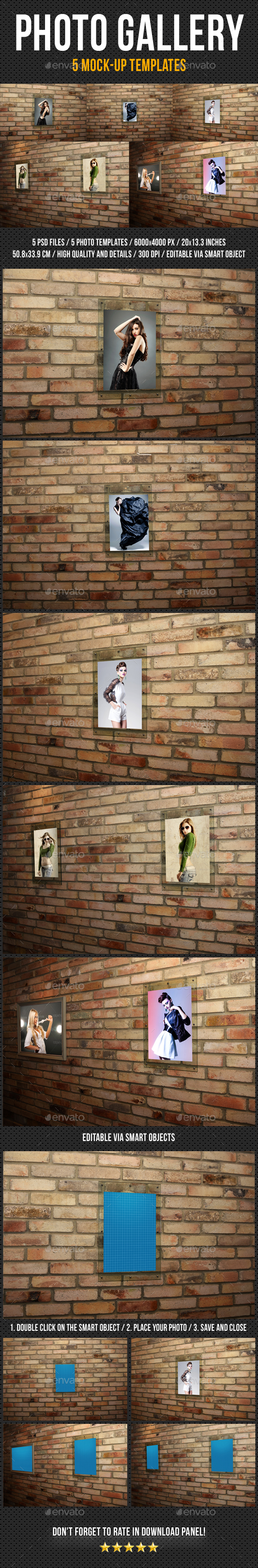 Photo Gallery Mock-Up Pack 3 - Miscellaneous Print