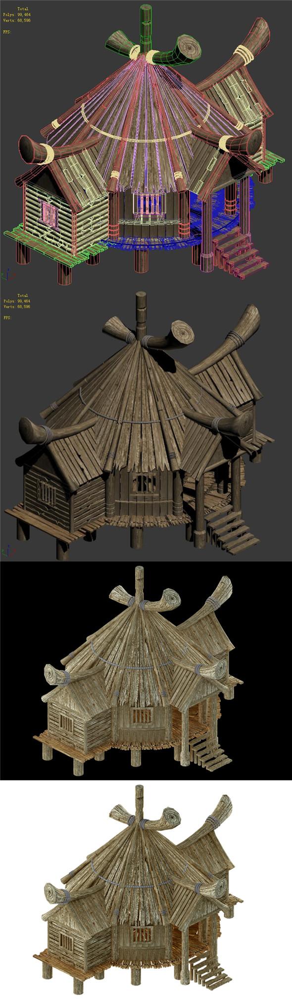 Wooden Buildings - Pharmacy 01 - 3DOcean Item for Sale