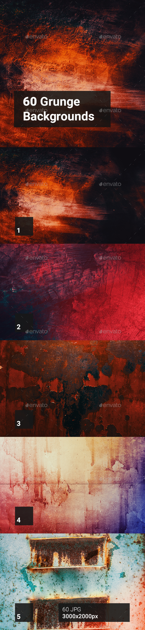 60 Grunge Backgrounds - Abstract Backgrounds